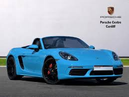 pistonheads porsche boxster used 2017 porsche boxster 2 5 s 2dr pdk for sale in south wales