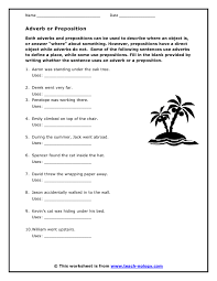 preposition or adverb worksheet free worksheets library download