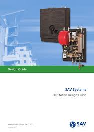 sav flatstation design guide rev july 2013 by epsilon energy