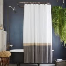 Brown And Gold Shower Curtains Green Striped Shower Curtain Foter