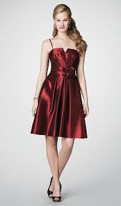 size 12 cranberry alfred angelo short bridesmaid dress 7190