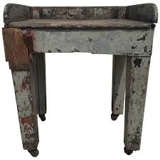 Farmhouse Side Table Antique Rustic Swedish Folk Farmhouse Side Table With Hook