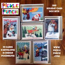 cards boxed set of 10 pickle punch