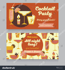 design template cocktail party retro style stock vector 235795159