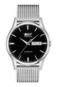 tissot steel bracelet images Tissot heritage visodate men 39 s automatic black dial watch with jpg