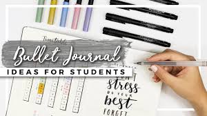 bullet journal ideas for students back to school planning