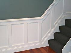 Dining Room Wainscoting Ideas Raised Panel Wainscoting With The Stairs Waynescoting