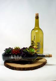 wine bottle serving dish cut wine bottle succulent planter serving dish my lil craft