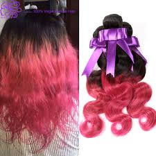 Two Tone Ombre Hair Extensions by New Grace 6a Grade Ombre Pink Brazilian Human Hair Extensions