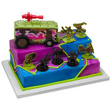 tmnt cake topper mutant turtles stomp the foot deluxe cake topper