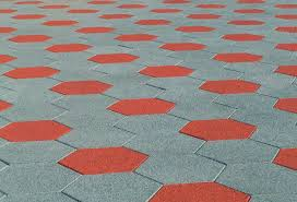 Recycled Rubber Patio Pavers Sofscape Hexagonal Rubber Paver Safety Concepts