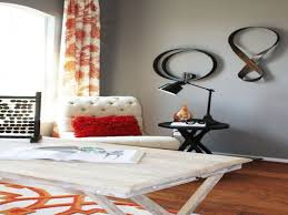 Orange Accent Wall by Manly Bedroom Ideas Grey Walls Orange Accents Grey Accent Wall