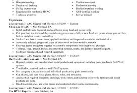 modern resume exle resume hvac installer impressive templates duct duties and