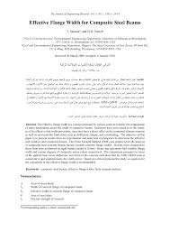 effective flange width for composite steel beams pdf download