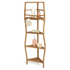 Corner Shelving Bathroom 59 Teak Corner Bath Shelf With Curved Legs Bathroom