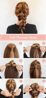 cute hairstyles pull through braid 15 adorable french braid ponytails for long hair popular haircuts