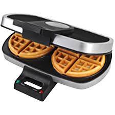 Round Sandwich Toaster Tru Dual Round Belgian Waffle Maker Silver Black Walmart Com