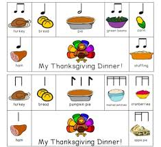 thanksgiving dinner rhythm composition activity composition