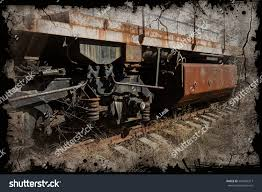 rusty train old rusty train locomotive thrown exclusion stock photo 594426317