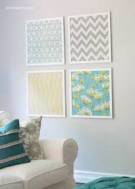 diy shoestring wall art ideas fabric art fabric wall art and