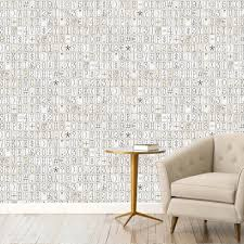 Wallpaper In Home Decor 1 Wall Typography Pattern Letters Numbers Motif Wallpaper W10mtypo02