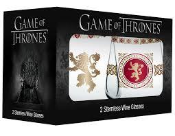 lannister stemless wineglass set game of thrones gifts fairyglen com