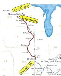 Map Of Northern America by Queen Of The Mississippi Northern Mississippi River Cruise