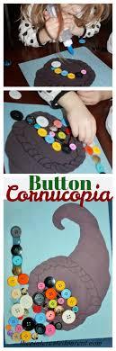 button cornucopia thanksgiving craft the pinterested parent