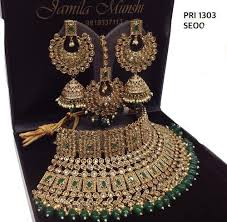 bridal necklace set images Antiique gold choker beautiful polki bridal necklace set rs 4000 jpg