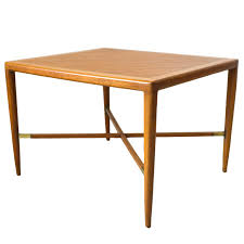X Base Side Table Mahogany And Brass X Base Side Or End Table By Tomlinson Tables