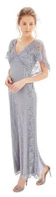topshop dress topshop slate blue lace cape formal bridesmaid mob dress size 12