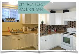 cheap diy kitchen backsplash the social home diy renters backsplash with vinyl tile at diy
