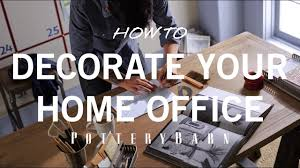 how to decorate office desk how to decorate your home office youtube