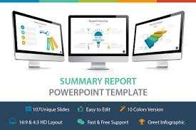 summary report template summary report powerpoint template presentation templates