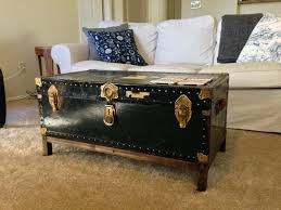 trunk style side table side table chest side table black vintage trunk coffee chest side