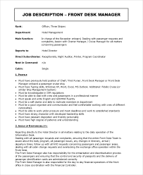Internal Audit Job Description For Resume by Night Auditor Job Description Front Office Organization Chart