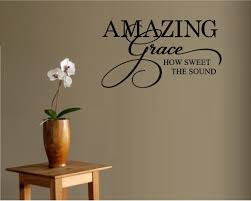 amazon com amazing grace how sweet the sound vinyl wall window amazon com amazing grace how sweet the sound vinyl wall window decal sticker home decor home kitchen