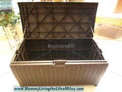 review hayneedle suncast resin wicker deck box