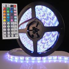 tape lights with remote battery powered 5050 rgb led strip light kit 44 key remote