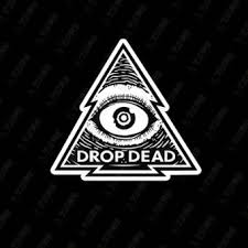 drop ded single drop dead classic pattern skateboard stickers laptop