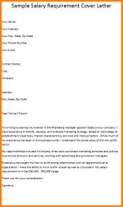 cover letter template with salary requirements 7 salary requirements example applicationleter com