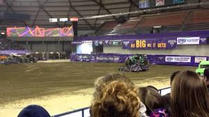 monster truck show tacoma dome monster jam 2014 tacoma dome grave digger rollover youtube