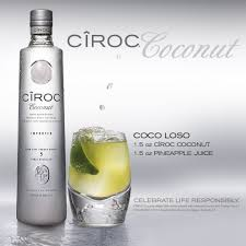 coco loso change to a splash of pineapple juice and top with