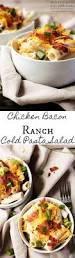 chicken bacon ranch cold pasta salad 4 servings easy