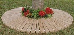 wooden mats for barbecue and trash can
