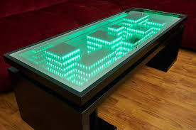 Infinity Mirror Desk Wi Fi Infinity Mirror Table Including A Usb Charger Infinity