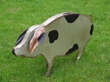 pigs metal garden statues lawn ornaments ebay