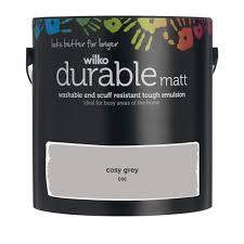 wilko durable matt emulsion paint cosy grey 2 5l at wilko com