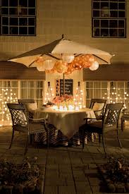 Lighted Patio Umbrella Lighted Patio Table Table Design Ideas