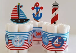 Diaper Cake Centerpieces by Nautical Mini Diaper Cake Baby Shower Centerpieces U2013 Little Love